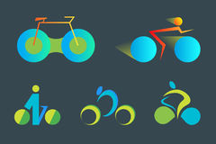Rowerowy abstrakcjonistyczny wektorowy loga szablon Obrazy Stock
