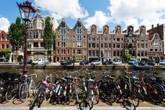 rowerowy Amsterdam parking Obraz Royalty Free