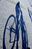 rowerowy cień Zdjęcia Royalty Free