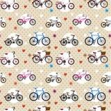 rowerowy deseniowy bezszwowy Zdjęcia Royalty Free
