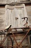 rowerowy domowy stary drewno Zdjęcia Royalty Free