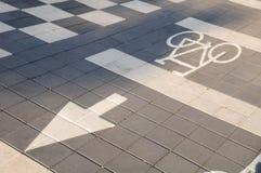Rowerowy drogowy znak Obrazy Royalty Free