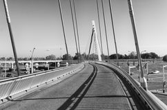 Rowerowy i zwyczajny most Zdjęcie Royalty Free