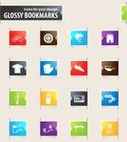 Rowerowy ikona set Obraz Stock