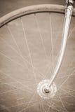 Rowerowy koło z starym stylem Fotografia Royalty Free