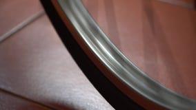 Rowerowy koło z szprychami wiruje ruchy zbiory wideo