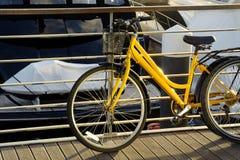 rowerowy kolor żółty Obrazy Royalty Free