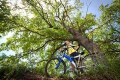 rowerowy lasowy target1144_0_ nastolatka Fotografia Stock
