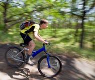 rowerowy lasowy target195_0_ nastolatka Fotografia Stock