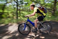 rowerowy lasowy target92_0_ nastolatka Zdjęcia Royalty Free