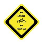 rowerowy licencja żadny drogowy podatek Obrazy Stock