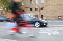rowerowy miasto obraz stock