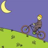 Rowerowy noc jeździec ilustracja wektor