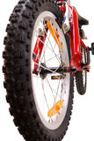 rowerowy nowy czerwony biel Zdjęcia Royalty Free