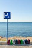 Rowerowy parking Obrazy Stock