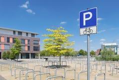 Rowerowy parking Obrazy Royalty Free