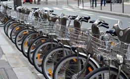 Rowerowy parking Zdjęcia Royalty Free