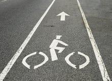 rowerowy pas ruchu Zdjęcia Stock