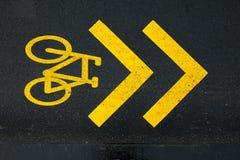 Rowerowy pas ruchu Obraz Stock