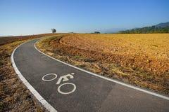 Rowerowy pas ruchu, roweru pas ruchu w Chiang Raja, Tajlandia Obraz Stock