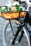 rowerowy retro miastowy obraz stock