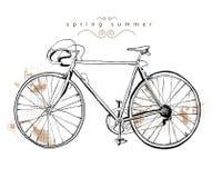 rowerowy rocznik Fotografia Royalty Free