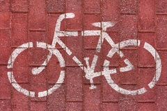rowerowy roweru drogowego znaka biel Obrazy Stock
