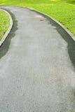 Rowerowy sposób w zieleń parku Obrazy Stock