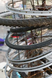 rowerowy stary koło Zdjęcie Royalty Free