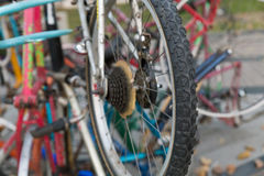 rowerowy stary koło Zdjęcia Royalty Free