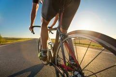 Rowerowy szkolenie na drodze Obrazy Royalty Free