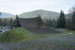Rowerowy umiejętność park na Burnaby górze Obrazy Stock