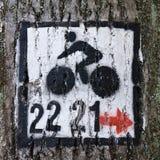 rowerowy znak Fotografia Royalty Free