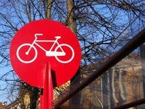 rowerowy znak Zdjęcie Stock