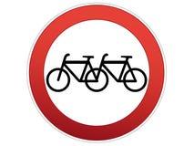 rowerowy znak Obrazy Royalty Free