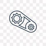 Rowerowych sprockets wektorowa ikona odizolowywająca na przejrzystym tle ilustracja wektor