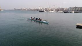 Rowers κωπηλατώντας στη θάλασσα Στοκ φωτογραφίες με δικαίωμα ελεύθερης χρήσης