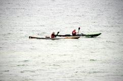 2 rowers каяка Стоковое Фото