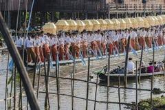 Rowers на шлюпке Стоковое Изображение RF