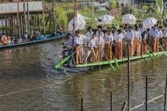 Rowers на шлюпке Стоковая Фотография