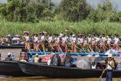 Rowers на шлюпке Стоковые Изображения RF
