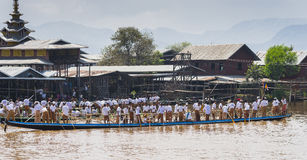 Rowers на шлюпке Стоковые Фотографии RF