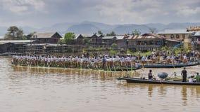 Rowers на шлюпке Стоковое фото RF