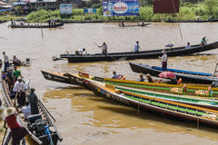 Rowers на шлюпке Стоковая Фотография RF