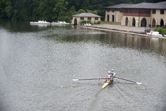 Rowers. On Carniege Lake in Princeton NJ Stock Photography