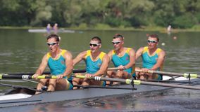Rowers in action: power and passion