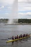 Rowers au repos Photos libres de droits