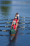 Rowers in canoe Royalty Free Stock Images