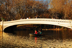 Rowers, Central Park, New York Stock Image