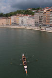 Rowers in Lyon Stock Photography